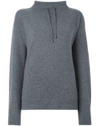 JOSEPH - Gray Drawstring Turtle Neck Sweater - Lyst