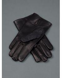 Imoni Black Leather Gloves for men