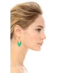 Alexis Bittar Orbiting Basic Earrings - Leaf Green