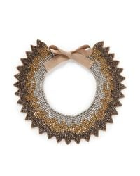 Valentino - Multicolor Grosgrain Tie Spike Strass Collar Necklace - Lyst