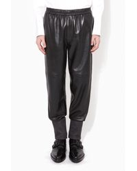3.1 Phillip Lim - Black Lounge Pant With Combo Cuff for Men - Lyst