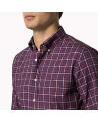 Tommy Hilfiger | Purple Woven Cotton Shirt for Men | Lyst