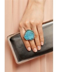 Kimberly Mcdonald - Blue 18-Karat Gold, Diamond And Chrysocolla Druze Ring - Lyst