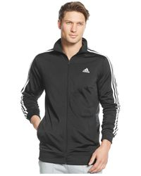 Adidas | Black Men's Big And Tall Tricot Full-zip Track Jacket for Men | Lyst