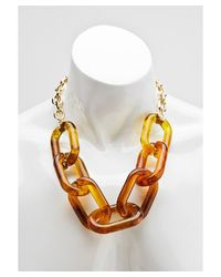 Kenneth Jay Lane | Brown Women's Tortoise And Gold Plated Necklace | Lyst