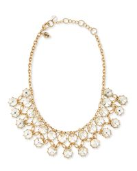 Adrienne Vittadini | Metallic Princess-cut Crystal Necklace | Lyst
