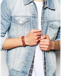 Polo Ralph Lauren   Brown Leather Plaited Bracelet for Men   Lyst