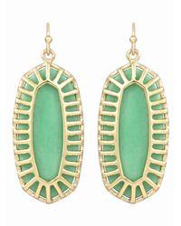 Kendra Scott - Green Dayla Magnesite Canopy Earrings Seafoam - Lyst
