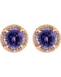 Irene Neuwirth Purple Women's Gemstone Stud Earrings