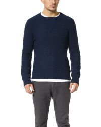 Gant Rugger - Blue The Basket Weave Sweater for Men - Lyst