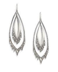 Alexis Bittar | Metallic Glacial Crystal Orbital Lucite Drop Earrings | Lyst