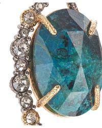 Alexis Bittar - Metallic Crystal Embellished Rose Cut Chrysocolla Drop Earrings - Lyst