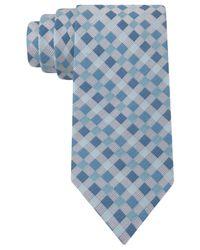 Geoffrey Beene | Blue Fast Forward Grid Tie for Men | Lyst