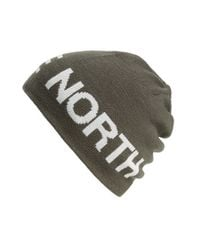 The North Face - Blue Reversible Beanie for Men - Lyst