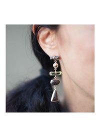 Melissa Joy Manning | Green Cat's Eye, Tourmaline, Apatite, And Boulder Opal Five Drop Earrings | Lyst
