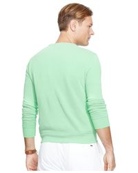 Polo Ralph Lauren | Green Big & Tall Terry Crew-neck Pullover for Men | Lyst