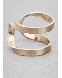 & Other Stories | Metallic Winding Brass Ring | Lyst