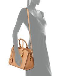 Alexander McQueen - Brown Small Padlock Satchel Bag - Lyst
