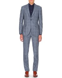 Richard James | Blue Patterned Regular-fit Wool Suit for Men | Lyst