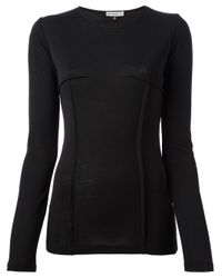 Ann Demeulemeester Blanche - Black 'Pureness' T-Shirt - Lyst