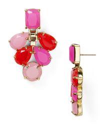 kate spade new york - Pink Boardwalk Stroll Chandelier Earrings - Lyst