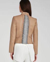 BCBGMAXAZRIA - Brown Jacket - Lloyd Bonded Faux Leather - Lyst