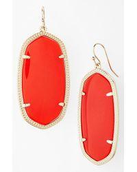 Kendra Scott | 'danielle - Large' Oval Statement Earrings - Bright Red | Lyst