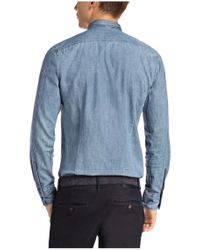 BOSS Orange - Blue Regular-fit Casual Shirt 'classee' With A Light Wash for Men - Lyst