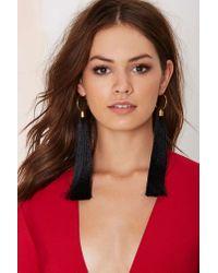 Nasty Gal - Metallic Suzywan Deluxe Aurora Silk Tassel Earrings - Lyst