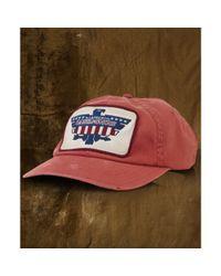 Denim & Supply Ralph Lauren | Red Twill Eaglepatch Baseball Cap for Men | Lyst