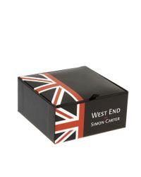 Simon Carter Black Imon Carter Swarovski Square Cut Stud Earrings Exclusive To Asos for men