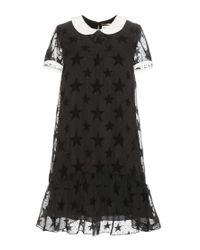 Saint Laurent | Black Lace Shirt Dress | Lyst