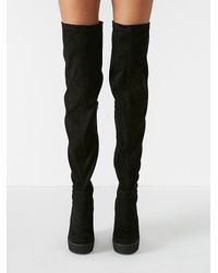 Free People Black Jeffrey Campbell + Womens Mind And Matter Over The Knee Boot