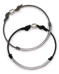 Dogeared | Metallic Balance Leather Bracelet | Lyst