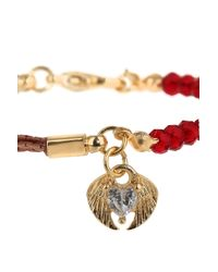 TOPSHOP - Red Heart and Wings Charm Bracelet - Lyst