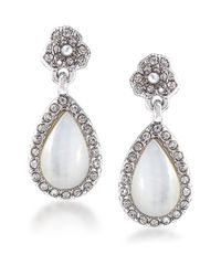 Carolee | White Catch The Bouquet Mother Of Pearl Double Drop Earrings | Lyst