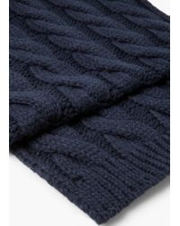 Mango - Blue Cable-knit Scarf for Men - Lyst