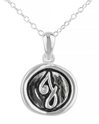Lord & Taylor | Metallic Oxidized J Pendant Necklace | Lyst