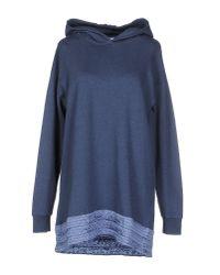 MM6 by Maison Martin Margiela - Blue Sweatshirt - Lyst
