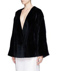 The Row Black 'kahi' Sheared Mink Fur Jacket