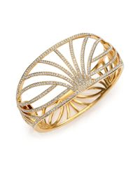 Adriana Orsini | Metallic Elevate Pavé Crystal Wide Bangle Bracelet | Lyst