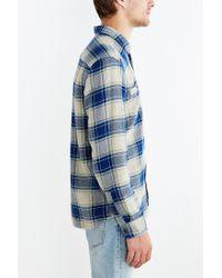 Stapleford Blue Kettle Plaid Flannel Button-down Shirt for men