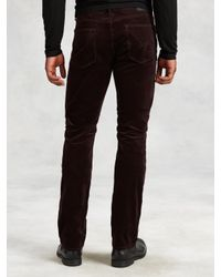 John Varvatos - Brown Cotton Cord Bowery Jean for Men - Lyst