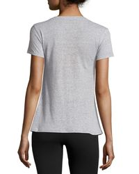 Josie Natori - Gray Linen Instincts Short-sleeve Top - Lyst