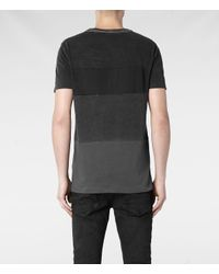 AllSaints - Black Crow Band Crew Tshirt for Men - Lyst