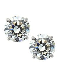 Roberto Coin | Metallic Four-prong Diamond Stud Earrings | Lyst