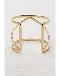 Forever 21 | Metallic Caged Cutout Cuff | Lyst
