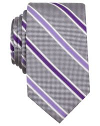 Perry Ellis | Purple Ando Stripe Slim Tie for Men | Lyst