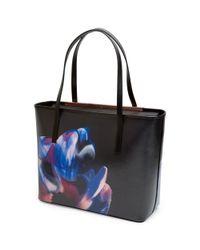 Ted Baker Black Carriee Crosshatch Leather Shopper Bag