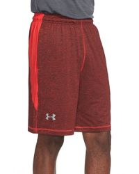 Under Armour | Green 'raid' Heatgear Loose Fit Athletic Shorts for Men | Lyst